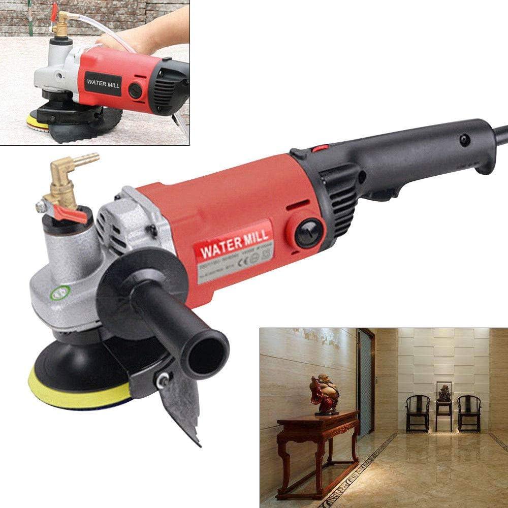 SenderPick Professional Pulidora en h/úmedo 1400 W, el/éctrico, velocidad variable, para m/ármol, baldosas de cemento, granito, terrazo