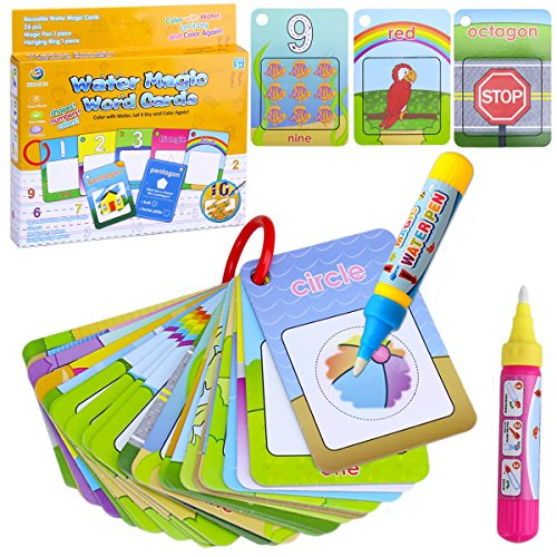 (BBLIKE Water Colouring Doodle Board-Water Pens Drawing Toy On The Go Water Wow! Reusable Water-Reveal (Animal))