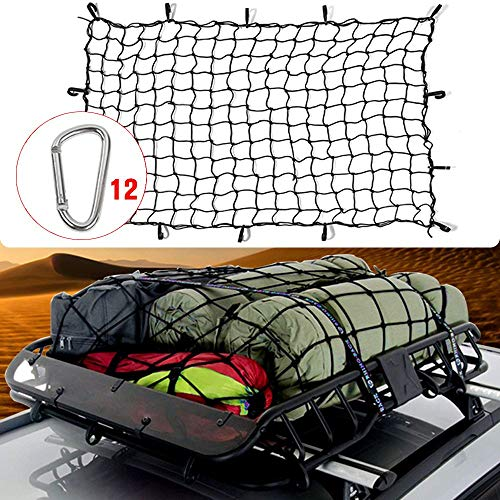 RT-TCZ 5.9'x3.9'Bungee Cargo Net Stretches to 13.6'x8.9',Small 4