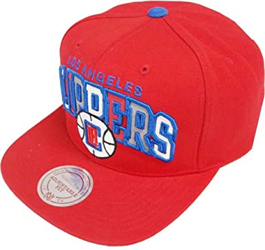 c8617f75347 Image Unavailable. Image not available for. Color  Mitchell   Ness Los  Angeles Clippers Reflective Tri Pop Arch VQ84Z Snapback Cap Red