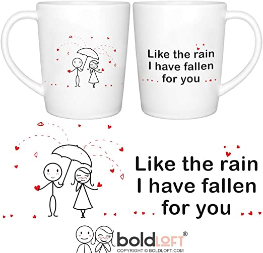 Boldloft I Have Fallen For You His And Hers Coffee Mugs Couple Coffee Mugs Couple Gifts Wedding Engagement Bridal Shower Anniversary For Boyfriend Girlfriend Husband Wife His And
