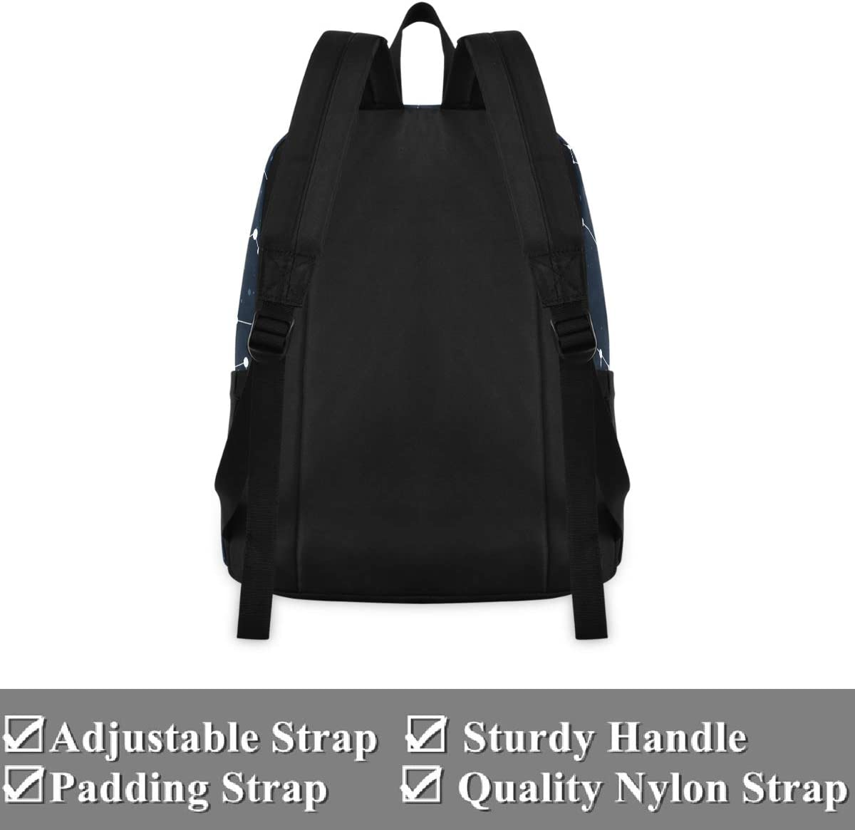 Starry Anti Theft Backpack for Women Men Camping Hiking Cycling Biking Fits up to 15.6 Inch Laptop Travel Backpack Lightweight Bookbag