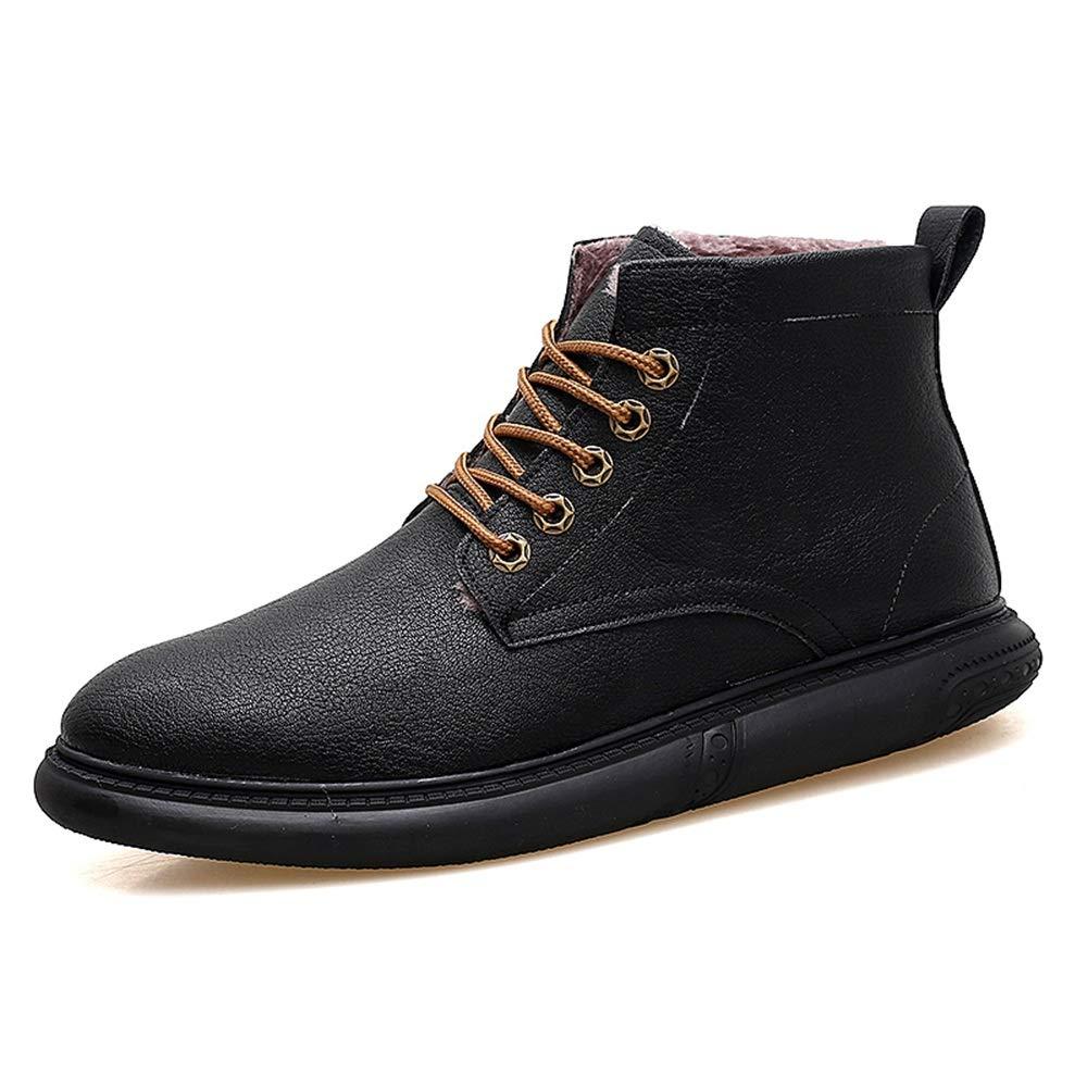 Herrenmode Ankle Work Stiefel Lässig Grünraglich Komfortable Winter Faux Fleece Inside High Top Stiefel. (Farbe   Braun, Größe   44 EU)  | Zu einem niedrigeren Preis