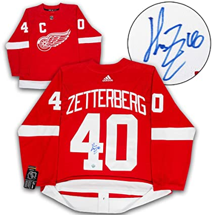 Image Unavailable. Image not available for. Color  Henrik Zetterberg Detroit  Red Wings Autographed Autograph Adidas Authentic Hockey Jersey ... 0ca181b8a