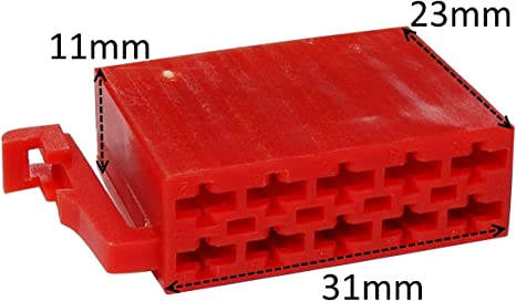 Aerzetix 10 Poliger Iso Steckersatz Mit 10 Pins C41221 Auto