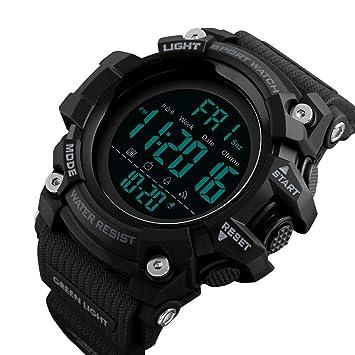 ZN&Z® Reloj Deportivo para Hombre, multifunción, 50 m, Resistente al Agua,