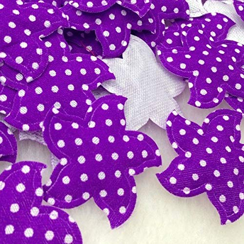 VT BigHome 60PCS Dots Star Padded Felt Sweet Heart Flower Appliques Craft Mix ()