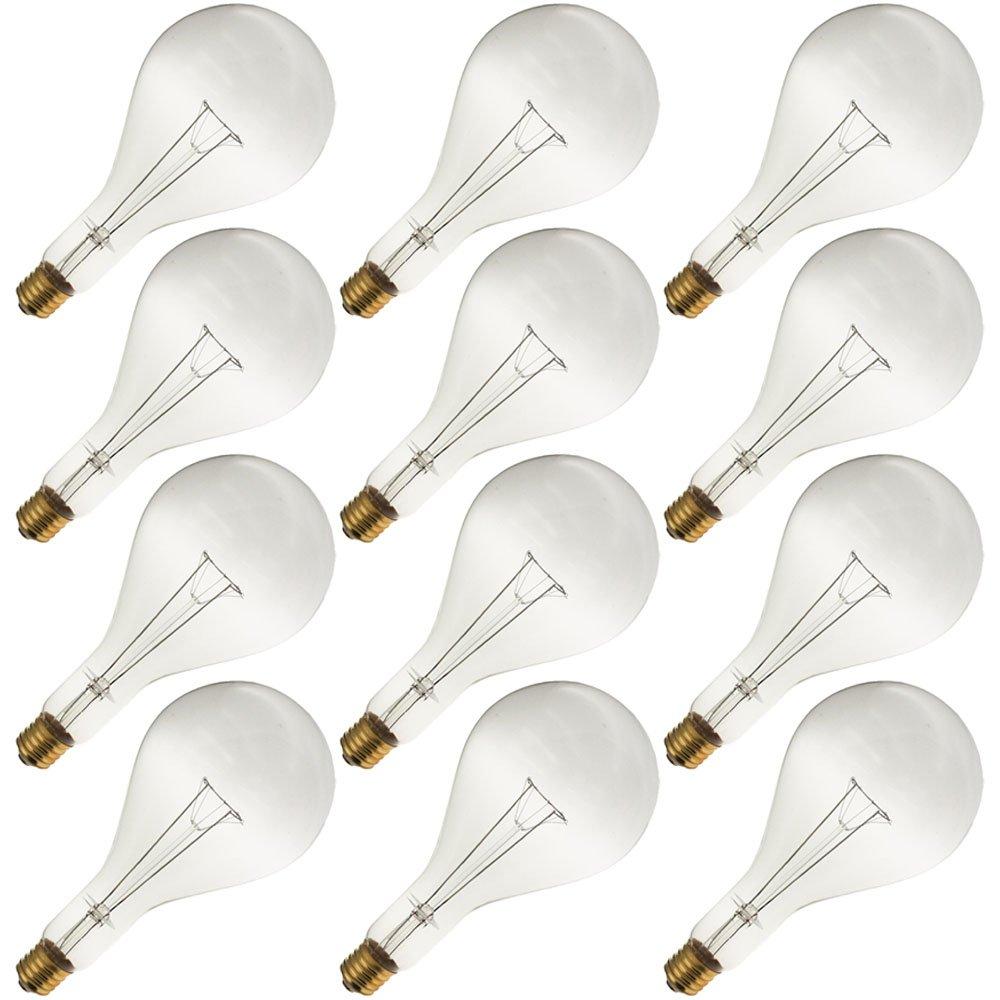 Industrial Performance 750PS52/CL, 130 Volts, Mogul Screw Base, Clear Incandescent Light Bulb (12 Bulbs)