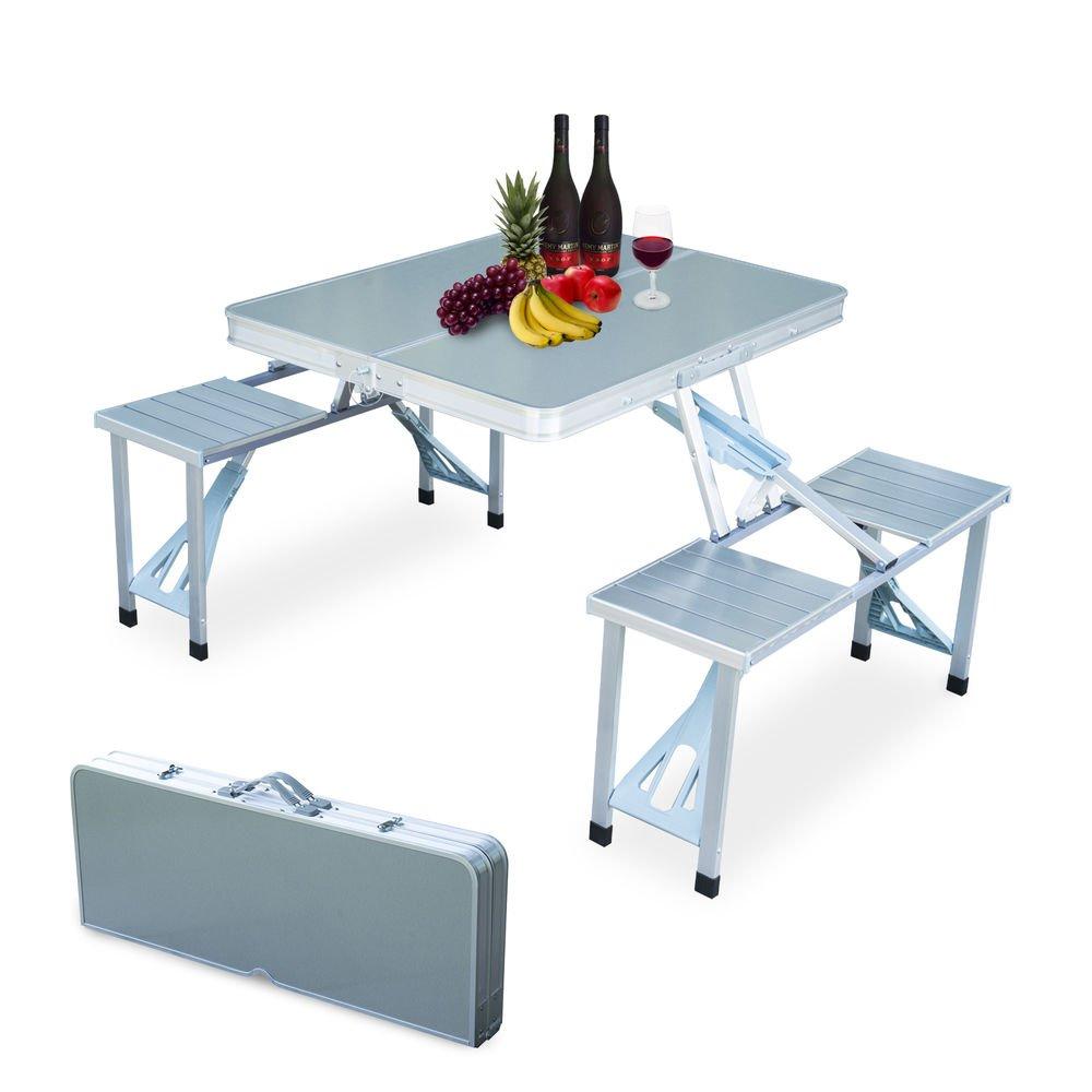 DFPP Seater Folding Type Portable Aluminium Picnic Amazonin - Smart fold up tables