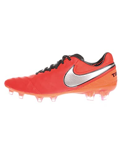new style beb3a 6bebd Nike Tiempo Legend VI FG, Chaussures de Foot Homme, Orange Rouge Vif argenté