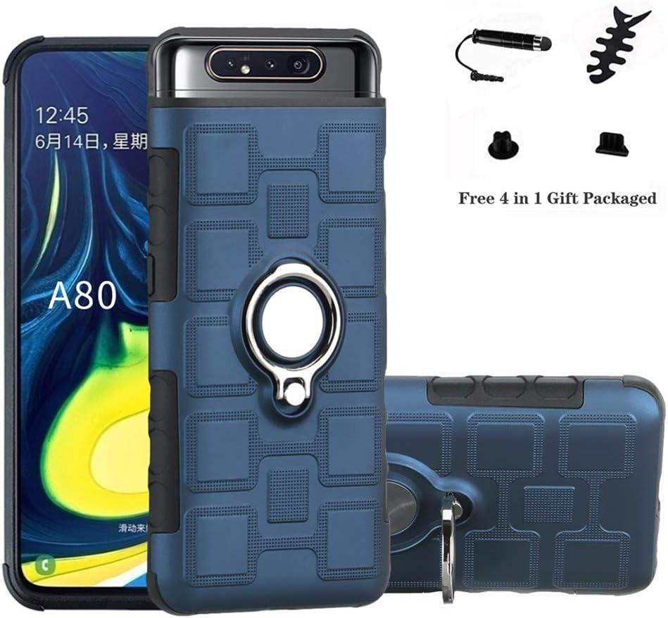 LFDZ Funda Samsung A80, 360 Grados Giratorio Ring Grip con Gel TPU ...