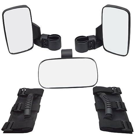 Universal asa Set, derecho y izquierdo Vista lateral Espejos W/clara centro de visión