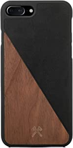 Woodcessories - Real Wood Case Compatible with iPhone 7 Plus / 8 Plus, EcoCase Split (Walnut/Black)