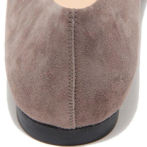 9272I ballerine donna tortora TODS gomma t10 sq fibbia pelle scarpe shoes women tortora
