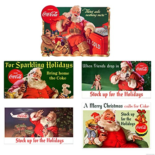 - Retro Planet Stock Up for Holidays Coca-Cola Santa Vinyl Sticker Set of 5