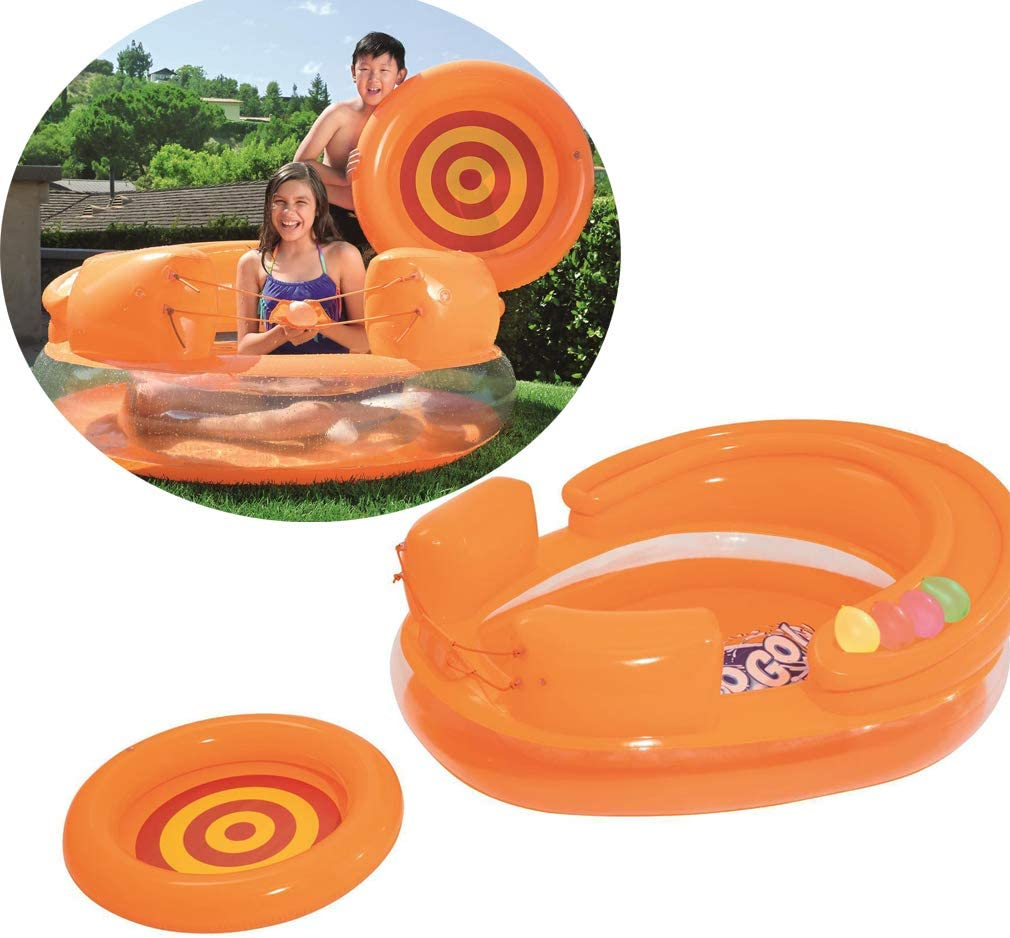 YAOXI Niños Juegos Remar Quinielas, Al Aire Libre Multifunción Nadando Piscina Niños Agua Lucha Cañón Inflable Piscina Oceano Pelota 3-10 Años Antiguo,Naranja