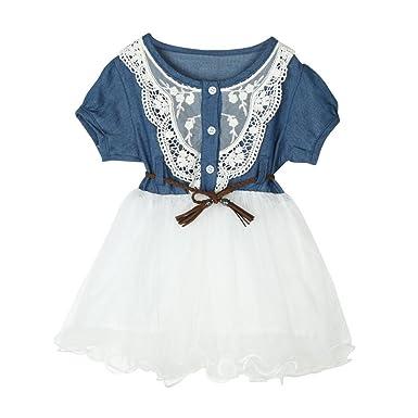 24ea6b9660f Amazon.com  JPOQW 1-5T Kid Girls Dress