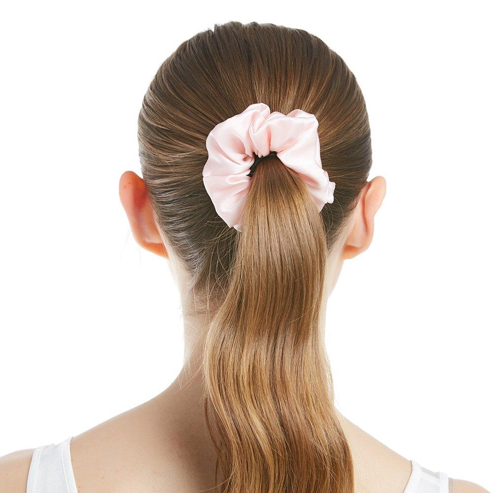 LilySilk Silk Women Pajama Sets 7pcs Hair Band and Hair Ties Short and Long Sets Sleepwear Ladies Light Pink XL/14-16 by LilySilk (Image #7)