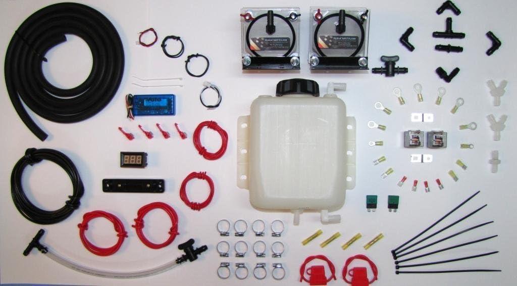 Dual HHO seco Kit de célula de hidrógeno generador combustible Gas MPG Efie mapa MAF Electronics Saver Volo