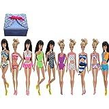 TIME4DEALS 5 Paquetes Hecho a Mano Una Pieza Minibikini Bañador Verano Playa Trajes de Baño y Trajes de baño 5 Pares para Muñeca 11 Pulgadas Barbie Doll Regalo Navidad-Estilo al azar.