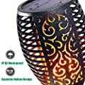 Menzee Solar Torch Flame Lights, 96 LED Solar Torch Light with Flickering Flame Waterproof Outdoor Lighting for Garden Patio Deck Yard Driveway