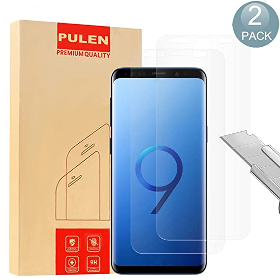 S9 Screen Protector Compatible with Samsung Galaxy S9 Friendly Anti-Scratch Bubble-Free Clear Blue