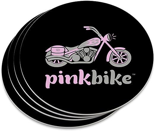 Rosa bicicleta motocicleta Chopper logotipo – Coaster Set: Amazon ...