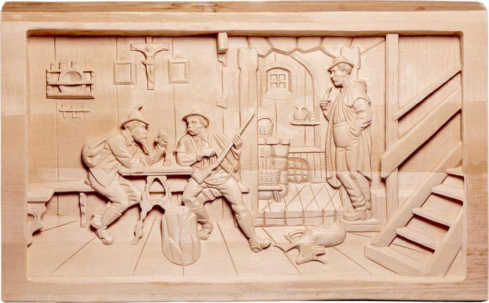 Holzschnitzerei Oswald Amort Jägerstube 90   90 cm   Natur - Unbemalt Natur - Unbemalt 90 cm