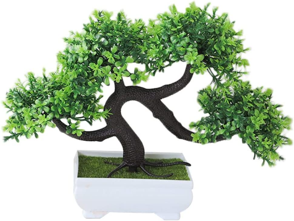 guanguan Artificial Bonsai Tree Fake Plant Potted Artificial House Plants for Desktop Decoration Display Elegant