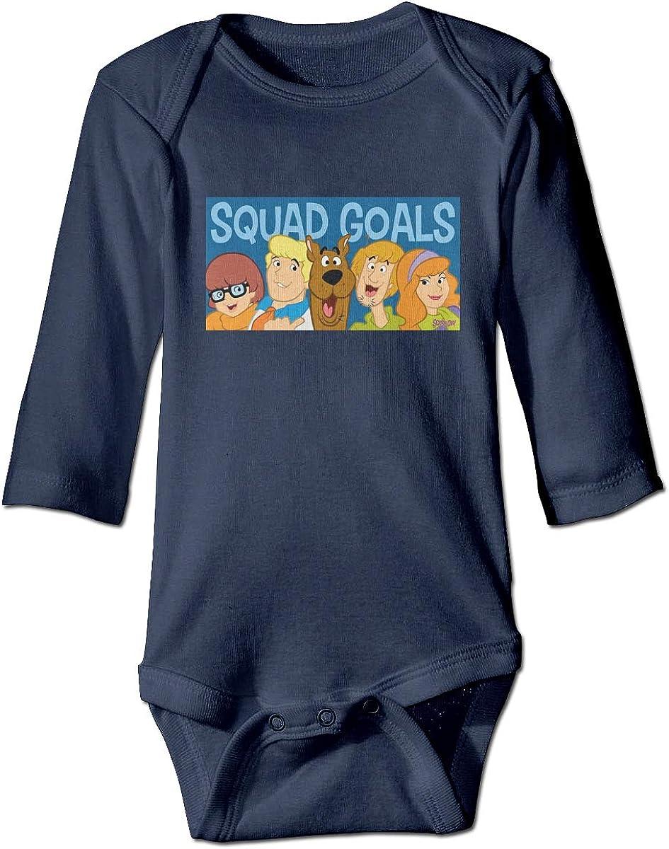 Scooby Doo Newborn Long Sleeve Onesies Bodysuit for Baby Boys Baby Girls