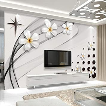 Amazon Com Xbwy Modern Fashion Mural Wallpaper 3d Stereo Black And White Ceramic Flower Photo Wall Painting Living Room Tv Sofa Backdrop Wall 3d 120x100cm Kitchen Dining
