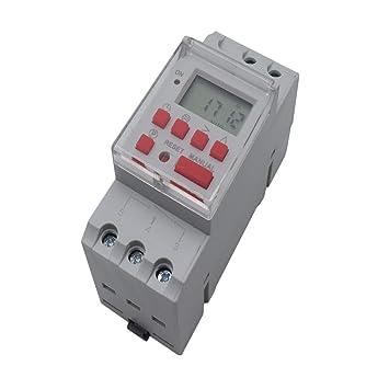 Yootop NBL25T Temporizador programable eléctrico digital Din Rail Time Switch AC240V 30A: Amazon.es: Bricolaje y herramientas