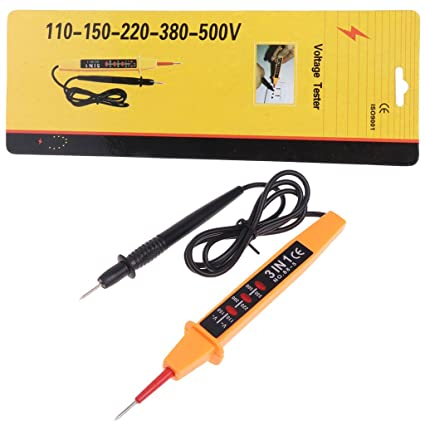 Qisuw 3 in 1 Car Auto Electric Test Pencil Detector Tester AC DC Voltage 110V-500V - - Amazon.com