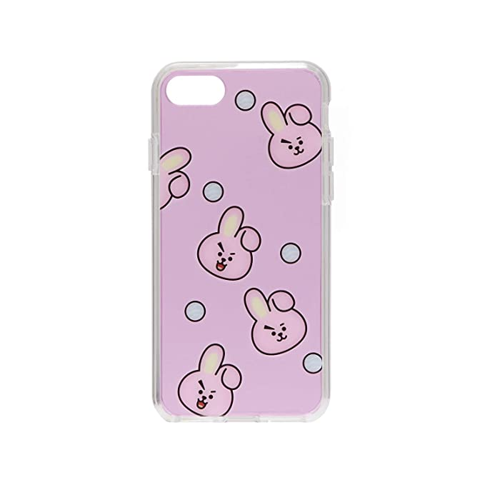 BT21 Official Merchandise by Line Friends - Cooky Pattern TPU Case for  iPhone 8 Plus/iPhone 7+, Pink