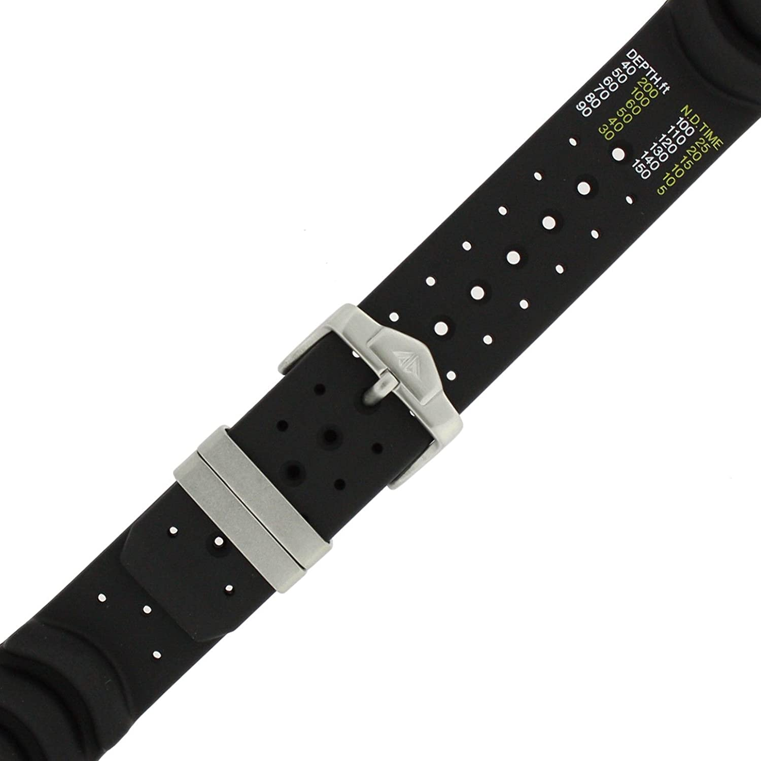 7b6fafdc282 Citizen 59-G0121 20mm Divers Watch Band ND Limits Printed in Meters Fits  BJ2024-01E B740M-H18083