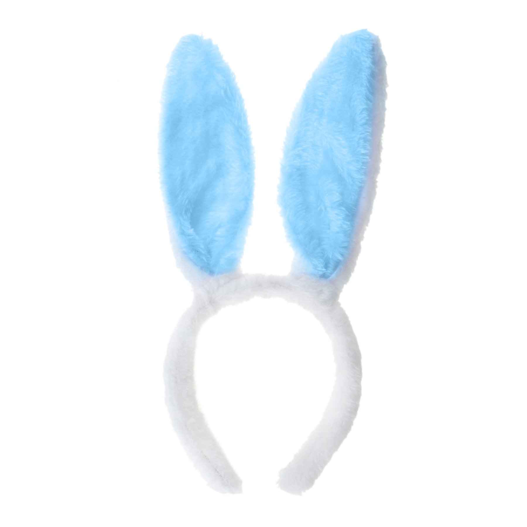 Toptie Wholesale Bunny Ears Headband, Soft Touch Plush Cosplay Party Accessory-Blue-120PCS