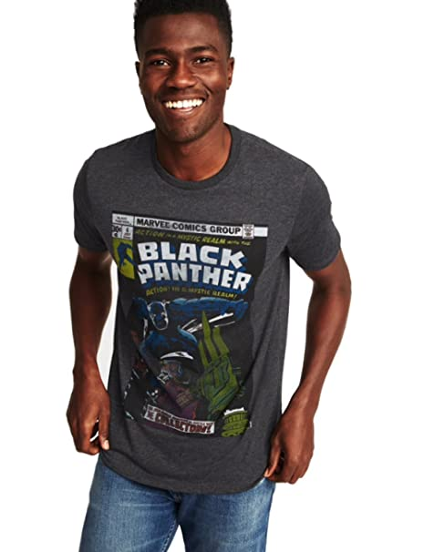 Amazon Com Marvel Comics Black Panther Graphic Tee For Men Clothing