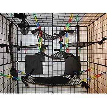 15 piece full mesh sugar glider cage set
