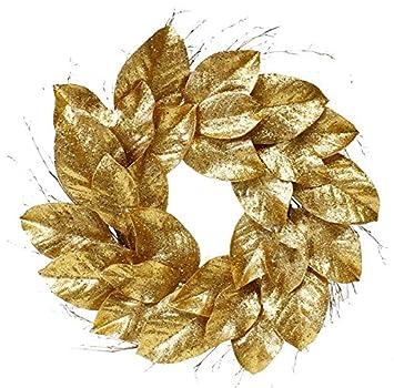 gold magnolia wreath