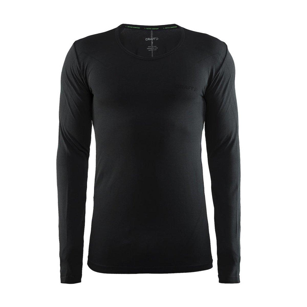 Craft 2016/17 Men's Active Comfort RN Long Sleeve Base Layer - 1903716 (Black Solid - XL)