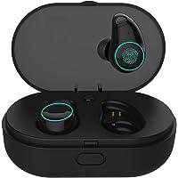 Auriculares Inalambricos Bluetooth,TWS Auricular inalámbrico Auricular con Estuche de Carga portátil y micrófono Incorporado para iOS, Android, Todos los Dispositivos Bluetooth
