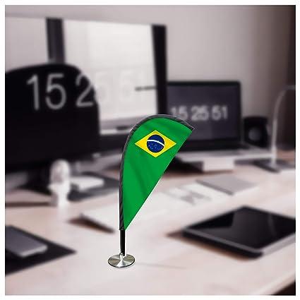 Bandera de Brasil para escritorio, forma de lágrima, soporte para ...