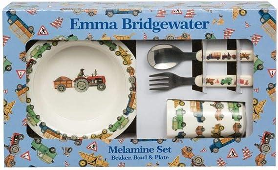 Emma Bridgewater constructeurs au travail étui de transport avec 3 Pièce Mélamine Set.