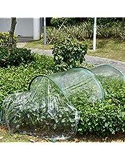 wonderday Túnel de Crecimiento de PVC Transparente, Túnel de jardín Plegable con Arco Cubierta Vegetal Protector Vegetal Mini Invernadero, a Prueba de frío, anticongelante, a Prueba de pájaros