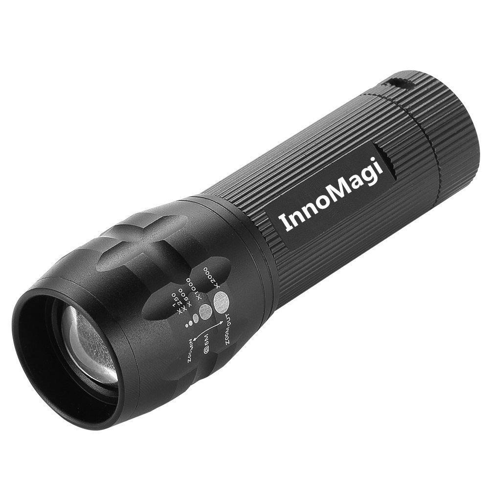 InnoMagi Linterna LED 900LM Flashlight de 3 Modos, para Ciclismo,Camping, Montañismo, Senderismo y Las Actividades al Aire Libre