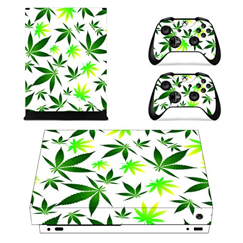 LLC Integral Protective Vinyl Skin Decal Cover for Microsoft Xbox One Console wrap sticker skins with two Free wireless controller decals / Stickers for xbox 1 one kineckt gamepads controller weed