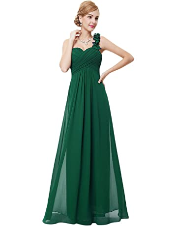 c3a8f4d7cbda Ever-Pretty Flower One Shoulder Empire Waist Floor Length Bridesmaids Dress  09768