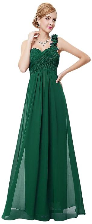 Review Ever Pretty Flower One Shoulder Empire Waist Floor Length Bridesmaids Dress 09768
