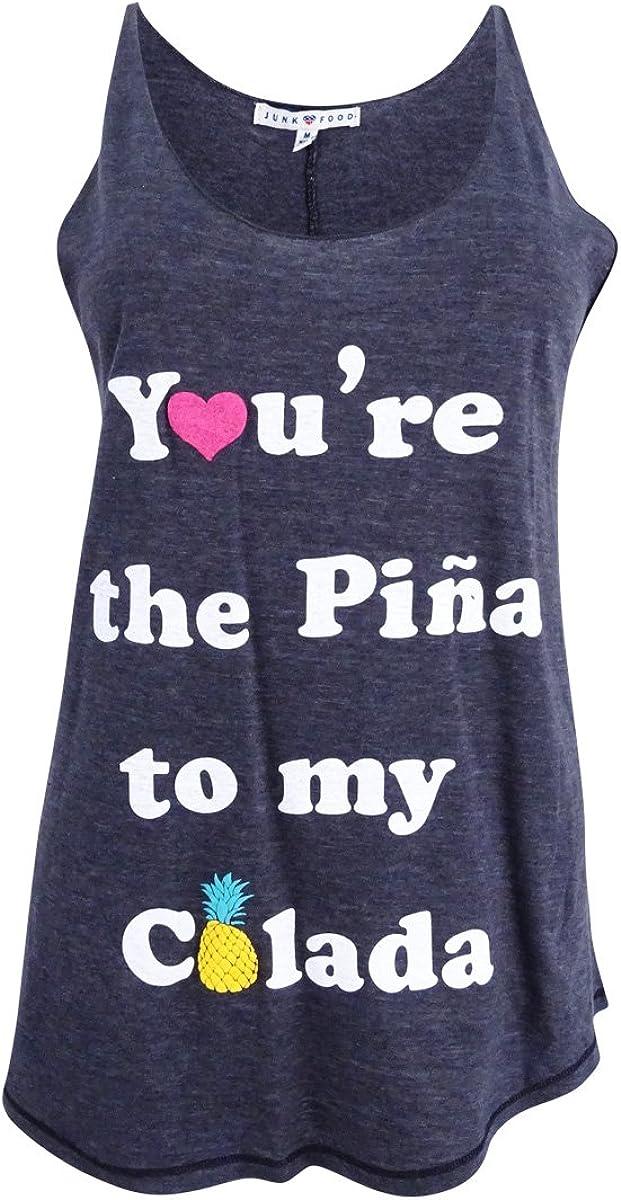 Junk Food Women's You're The Pina to My Colada Graphic Slub Tank Top
