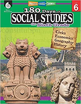 Amazoncom 180 Days Of Social Studies For Sixth Grade Daily